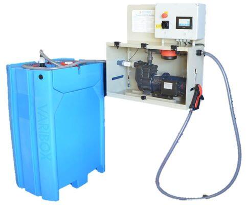 Pompset voor snel en veilig legen van de IBC-container